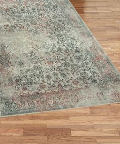 Turkish Patina Light Red and Green Rug