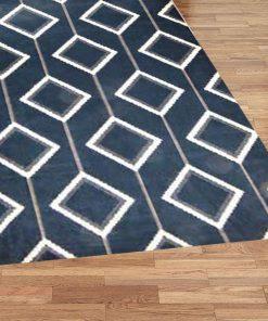 Turkish Sevilla Blue Geometric Rug